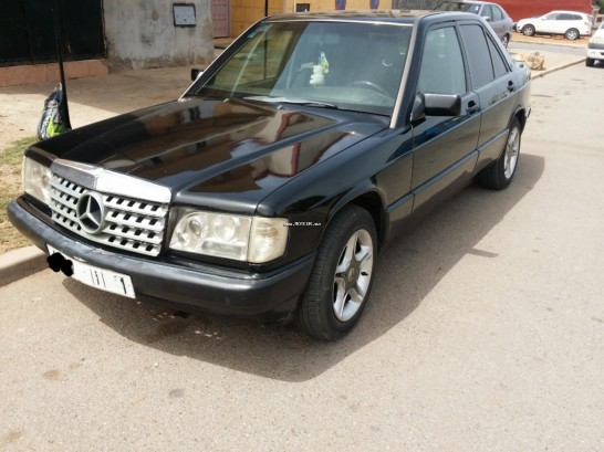 mercedes 190 1990 diesel 112210 occasion rabat maroc. Black Bedroom Furniture Sets. Home Design Ideas