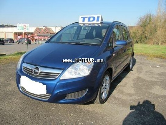 opel zafira 1 6 tdi 2009 diesel 59801 occasion rabat maroc. Black Bedroom Furniture Sets. Home Design Ideas