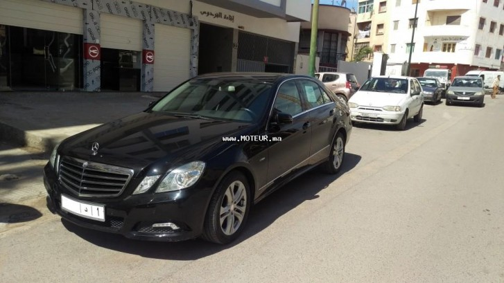 mercedes classe e 2009 diesel 98705 occasion rabat maroc. Black Bedroom Furniture Sets. Home Design Ideas