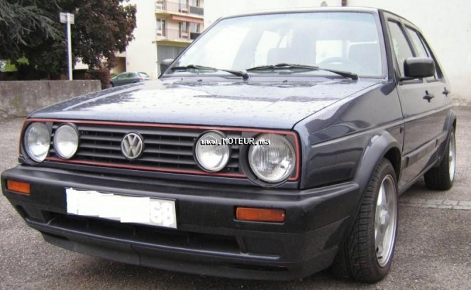 volkswagen golf 2 gtd 1989 diesel 62999 occasion agadir. Black Bedroom Furniture Sets. Home Design Ideas