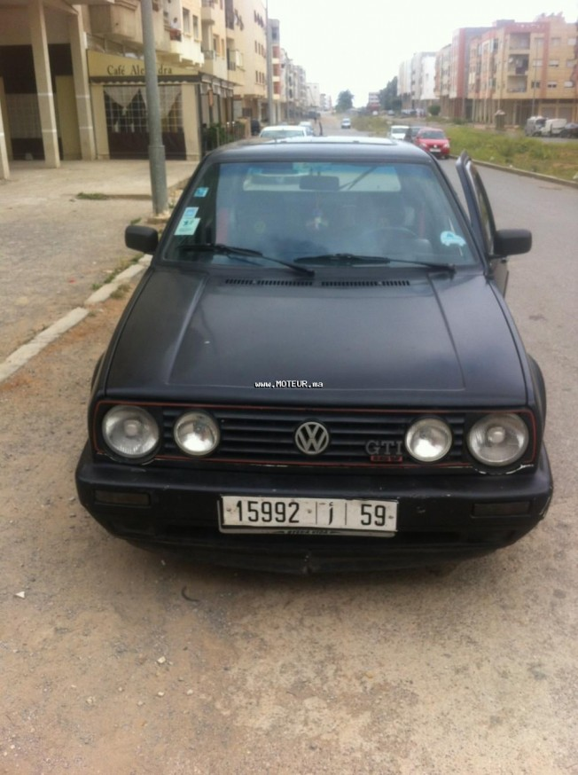 volkswagen golf 2 1989 diesel 101946 occasion rabat maroc. Black Bedroom Furniture Sets. Home Design Ideas