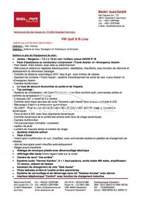 VOLKSWAGEN Golf 8 R-line occasion 1173789